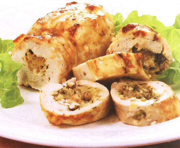 Куриные рулетики с беконом сыром и чесноком рецепт