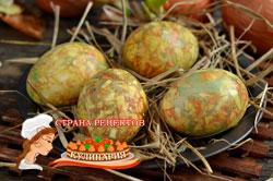 мраморные яйца на пасху, рецепт пошагово