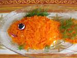 """Приготовление блюда """"Салат """"Золотая рыбка"""" рецепт праздничного салата для ребенка"""" :"""
