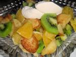 салат из фруктов в кляре
