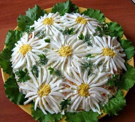 салат ромашки рецепт с фото