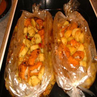Картошка запеченная рукаве рецепт фото