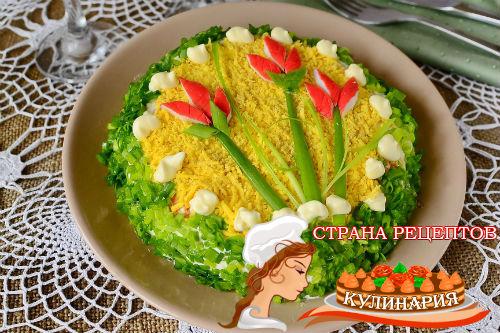 салат с крабовыми палочками рецепт