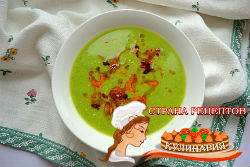 суп с зеленым горошком