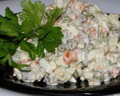 Салат оливье рецепт классический пошаговый рецепт с фото