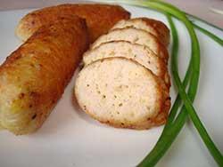 Нежные колбаски из куриного мяса