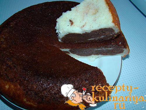 Творожная запеканка с какао рецепт с фото