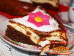 пирог творожный мраморный