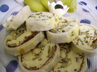 Фаршированные кальмары с сыром  и грибами рецепт