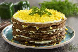 Печеночный  торт рецепт приготовления . Новогодние рецепты 2012