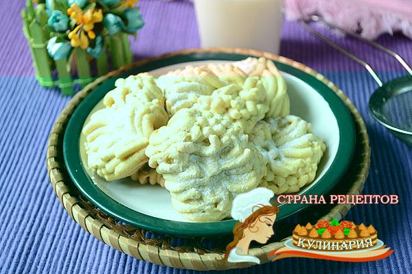 рецепт печенье хризантемы через мясорубку
