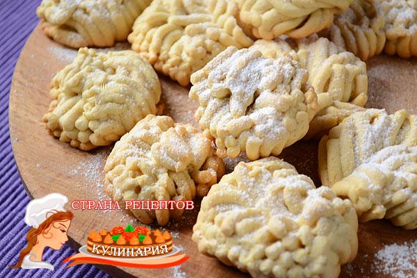 Печенье хризантема рецепт с фото пошагово