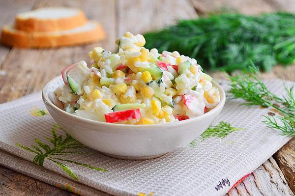 крабовый салат клссический