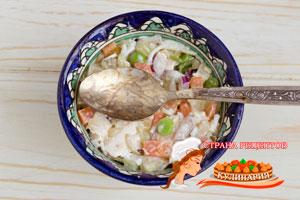 уплотняем салат