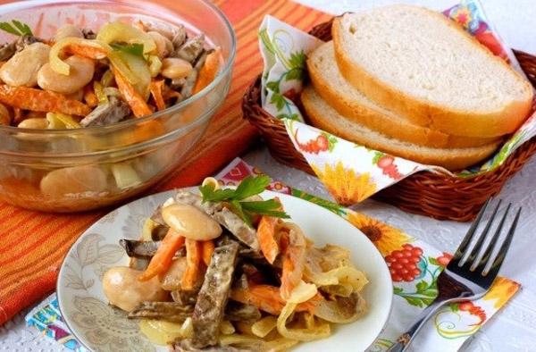 Салат из печени без добавления майонеза