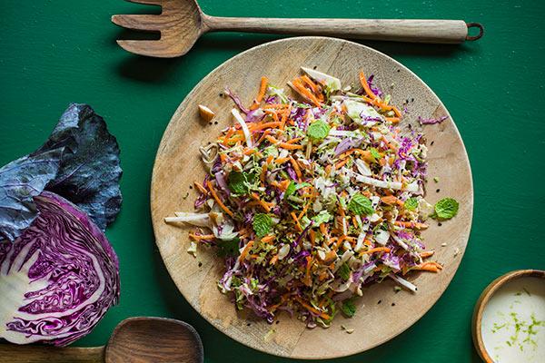 салат с капустой и фейхоа