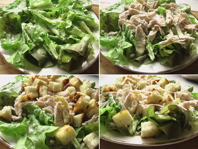 салат цезарь с курицей классический простой рецепт с заправкой