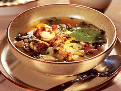 Грибной суп из свежих грибов с луком рецепт приготовления