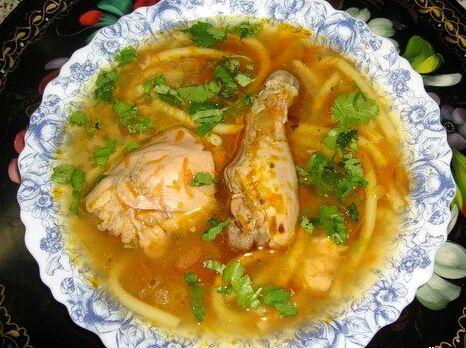 суп с картошкой и вермишелью на курином бульоне