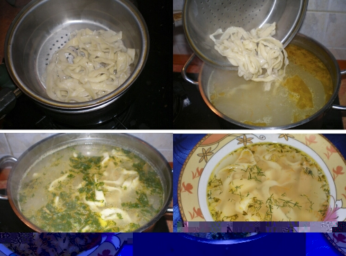 Рецепт с суп куриный с домашней лапшой рецепт с пошагово