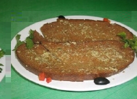 «Гренки с черного хлеба  чесночные  классические»