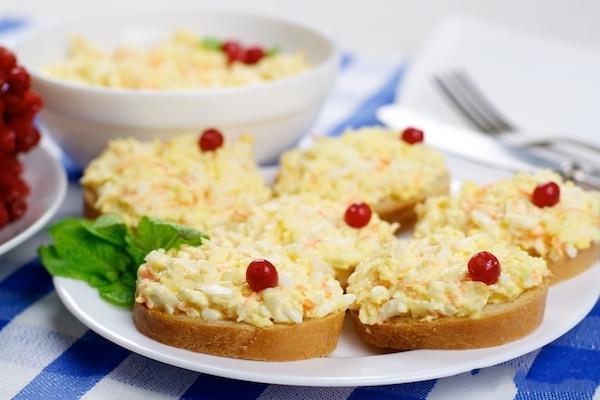 сливочный салат с сыром